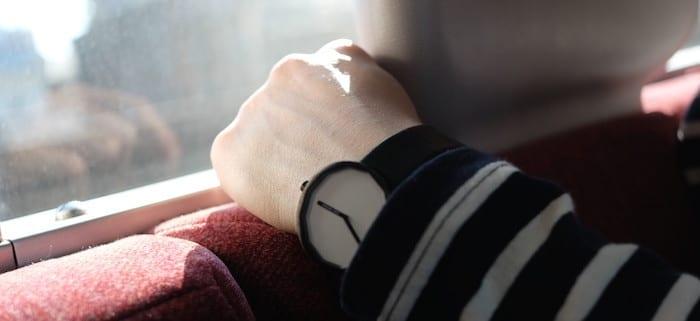 Woman wearing watch