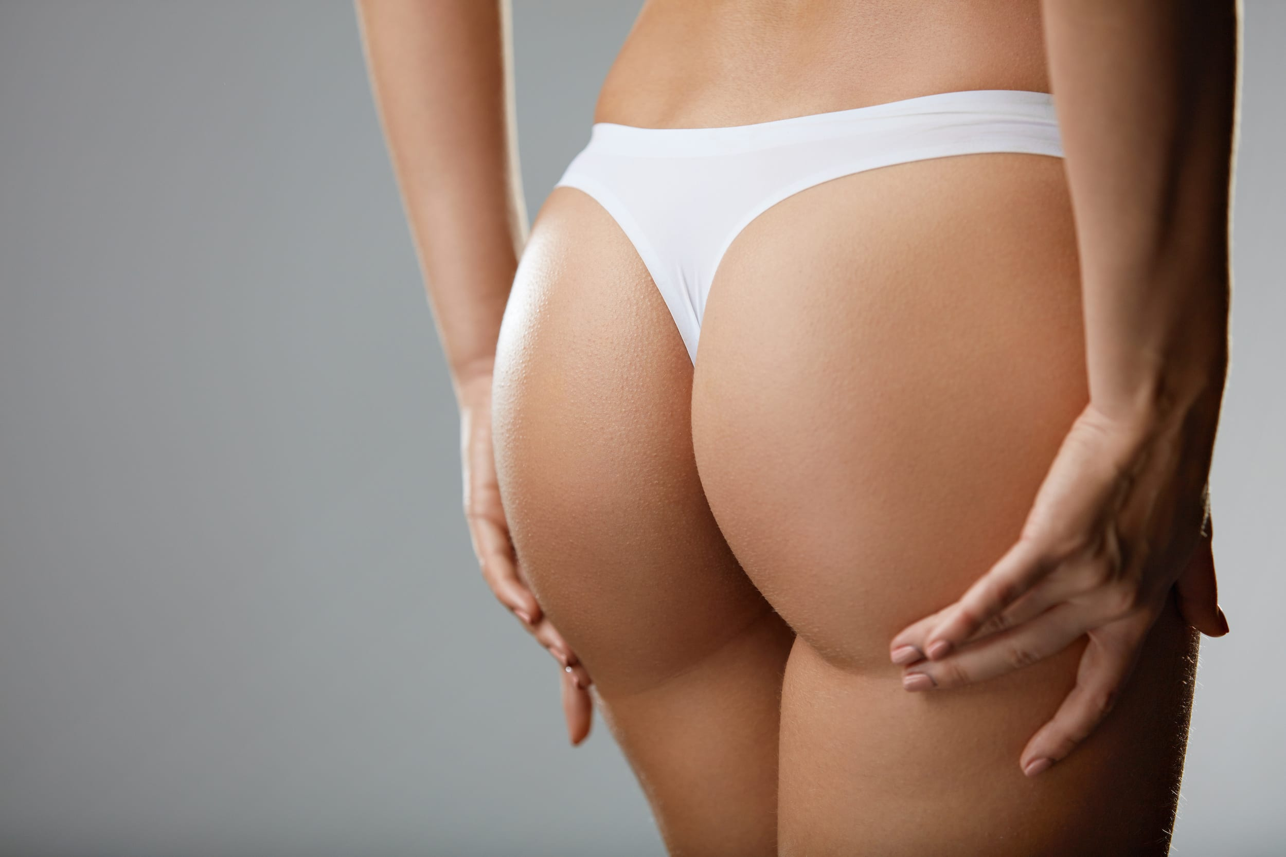 Сlose up of Healthy woman's Firm Buttocks after Brazilian Butt Lift in Winnipeg, MB